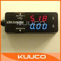 Universal USB Voltage Tester Current Voltage Meter LED Dual USB Voltmeter Ammeter Charger Power Supply Detector Doctor #300043