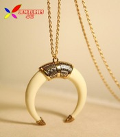 2014 new arrival fashionable retro gold silver alloy white black ivory long chain costume pendant & necklace for women bijoux