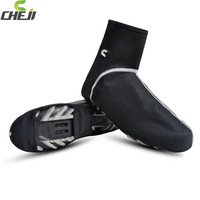 2014 cheji black color warm cycling shoes cover windproof bike over shoes bicycle accessoreis