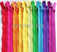 100pcs 8 Inch 20cm mixed colors zipper sampler pack mixed bright and vibrant colors
