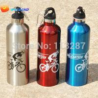 Free shipping Sports Bottle Bicycle Cycling steel bottle Travel Sports Bottle,Outdoor WaterBottle,Student Metal Drinking Bottles
