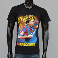 100%, High Quality Cotton Leisure 3 D Short Sleeve T-Shirt, Fashion Football Star Printing Short Sleeve T-Shirt, Free Shipping