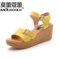 Summer new arrival 2014 paltform female sandals fashion wedges shoes women's comfortable platform shoes