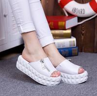 2014 han edition large base sponge cake designer shoes summer slippers sandals