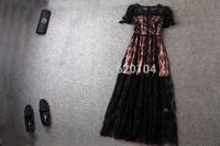 2014 brand new women's spring summer fashion wear European top brand fashion lace dress elegance party dress T18116