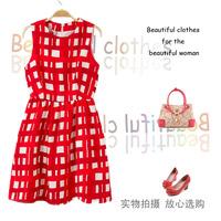 Women's dating plaid dress