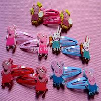 peppa pig Baby girl BB hair clip hairpin Character Peppa Pig George kids Barrette headwear
