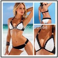 free shipping 2014 Summer Women Hot Sexy white extreme BIKINI AMERICAN push up swimwear bikiny beachwear bikinis set biquines