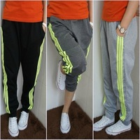 Summer 2014 New Casual pants fashion Women's Sport trousers Loose Breathable comfort stripe Causal Harem Pants 3 Colors
