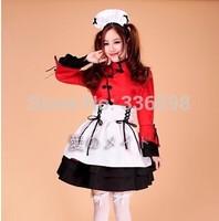 2014 new high quaility maid dress lolita copslay women's costume uniform fabric kimino Chinese style free shipping