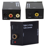 Converters Audio converter Digital Optical Coaxial Toslink SPDIF to RCA L/R Analog Audio Converter adapters free shipping