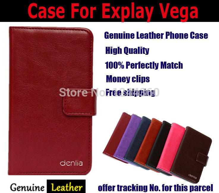Чехол для Explay вега натуральная кожа, hq , посвященный защитный чехол карта + отслеживая номер аккумулятор explay vega partner 2000mah пр034072