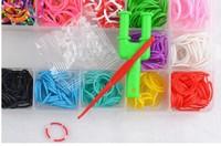 30sets 600rubbers new 2014  loom kit box Loom rubber bands Kit knitting machines Children fun loom