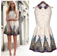 Waist Was Thin Sleeveless Vest  Dress Summer Dress 2014 Women MR1-16