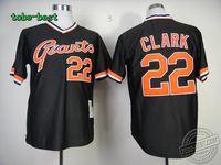 Baseball San Francisco Giants #22 Will Clark Black Throwback Jersey (1) throwback Baseball jerseys jersey Baseball