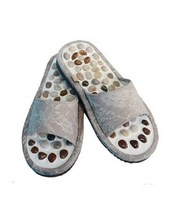 health monitors free shipping korean natural pebbles massage health slippers summer foot lovers home shoes for men and women
