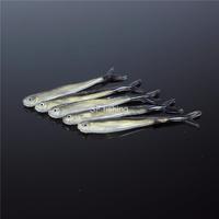 10 PCS SF Soft Fishing Lures Worm Bass Trout Shad Crank Swim Bait 8cm 2g