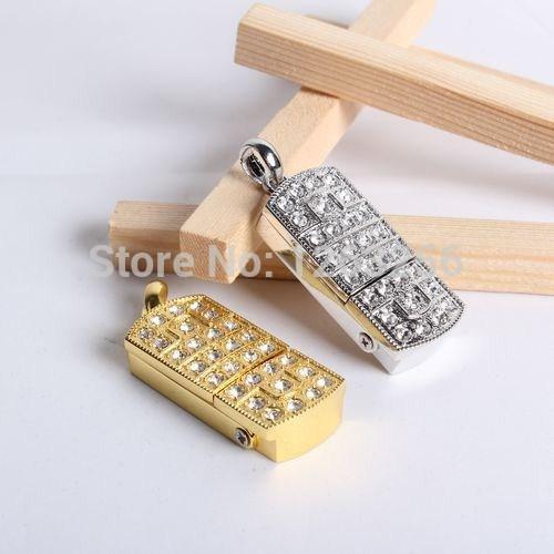 100% Full Capacity pendrive usb flash drive Prince Charming crystal necklace 8gb 16gb 32gb pen drives jewelry usb flash memory(China (Mainland))