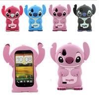 Cute 3D Stitch Soft Silicon Cover Case For HTC Desire V T328w / Desire X T328e