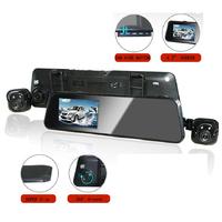 HD Color IR Car DVR Camera Rear View Mirror Night Vision King Car G-Sensor Camera 4.3inch LED Screen Double Camera