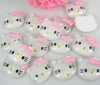 Free Shipping 100pcs Resin Hello Kitty Flatbacks Cabochon Scrapbook Craft 19 x 21mm