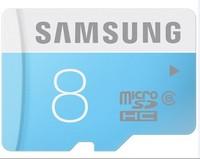 2014 new 100% original Genuine Samsung brand free shipping  8GB C6 micro sd  SDHC memory card + reader +sd adapter 30pcs/lot