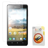 Free Shipping,for Huawei P7,0.3mm Explosion-proof Tempered Glass Screen Protector Film for Lenovo P780 (Arc Edge)