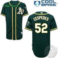 Oakland Athletics #52 Yoenis Cespedes soccer jersey Baseball boy Baseball throwback jersey