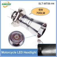 Newest 1 Pair H4H/L 6W 700LM 6000K White Motocycle Headlamp Led Headlight Bulb Fog Lamp