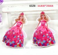 200pcs/lot 66X38mm kawaii flat resin DIY decoration cartoon princess Barbie accessories DIY resin crafts cabochon