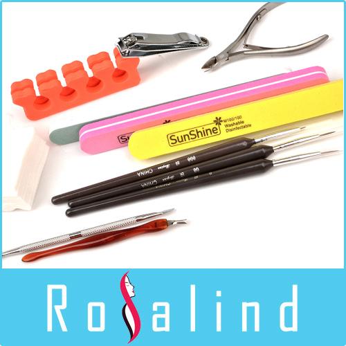 Rosalind NEW 2014 Free Shipping New Arrival Cristina UV Gel Polish Nail Art Basic Manicure Tool Kits Free Shipping(China (Mainland))