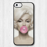 Free Shipping Marilyn Monroe Bubble Gum Cover Case For iPhone 5c T567