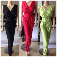 KM122~DHLFast Free ship~Women Sexy Overalls Bodycon Jumpsuit Pants~New Ladies Outfit pockets romper club wear overalls~4 colors