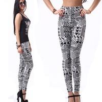 Black Milk Leggings Tatoo Yoga Pants Tatoo Fitness Gym Pants Women  Girls Geometric Cheap Clothing  On Line Store L150E