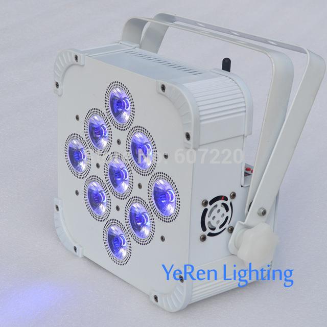 4PCS Wireless Battery Powered LED Par Light ,RGBWA+UV 6in1 Color PAR Can LED Dj Wash Light,DJ Lights(China (Mainland))