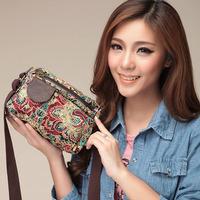 2014 new women's handbag multifunctional small cross-body day clutch female print small messenger bag shoulder bag