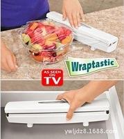 Free shipping 48sets Wraptastic Plastic Food Wrap Dispenser Aluminum Foil Wax Paper Cut as seen on TV