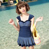 Steel push up swimwear spa women's one-piece dress