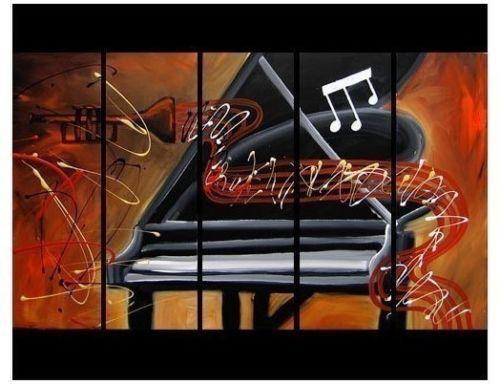 Trompete arte moderna bonita e piano pintura a óleo decorativa ( não emoldurado )(China (Mainland))