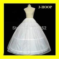 Hot sale Free Shipping 3 Hoops Ball Gown Bone Full Crinoline Petticoat Wedding Skirt Slip New PT001