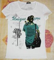 TXS006 fashion girl 100% cotton t-shirt 2014 women shorts