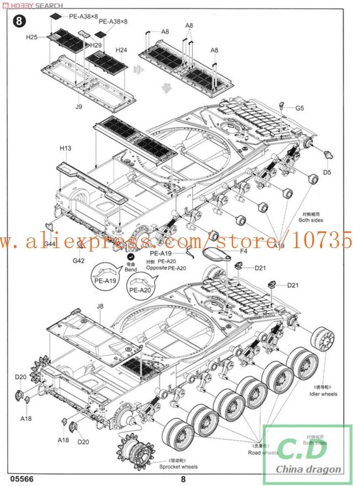 model 05566 1 35 Russian T 80BV MBT plastic model kit in Model ...
