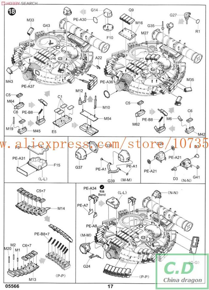 Aliexpress.com : Buy model 05566 1 35 Russian T 80BV MBT plastic ...