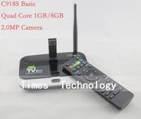 CS918S Basic Android 4.2.2 TV BOX 2.0MP Camera Microphone Allwinner A31S Quad Core 1G/8G XBMC Bluetooth 3G 4K WIFI,CS918S