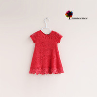 New Children Clothing Girls Summer Lace Cotton Dress Children Dress
