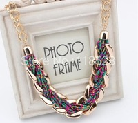 Fashion Necklaces For Women 2014 Bohemia Chunky Chain Handmade Beads Pendants Necklace Statement Accessories For Party n67y40