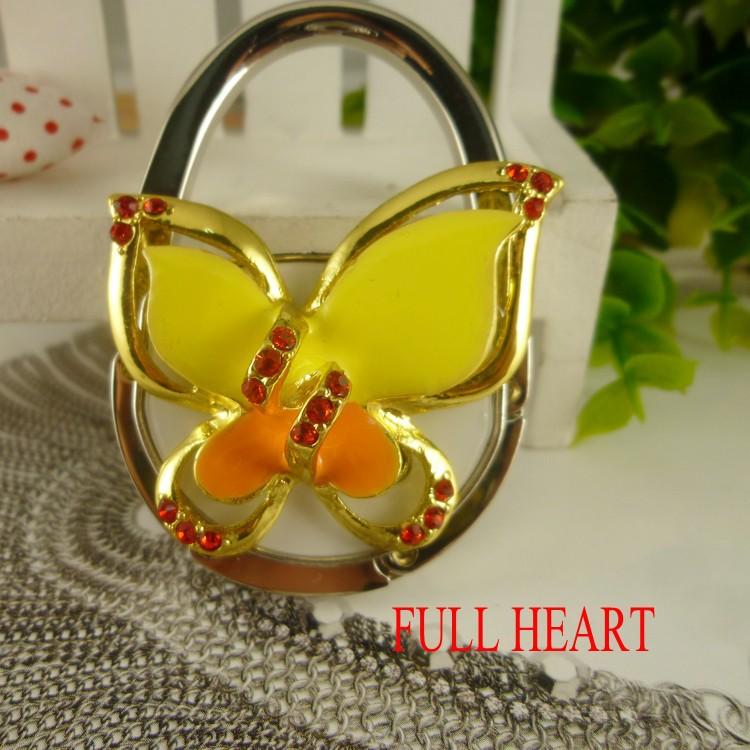 Fedex Free Shipping Multi-color Butterfly Bag Hanger With Hook Bag Holder Bag Hook Table Hooks Handbag Hangers Bag Decoration(China (Mainland))