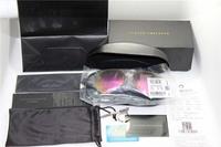 Free shipping New Brand Designer VB Aviator Sunglasses men women Eye Glasses wear victoria beckham Large Coating lenses+box