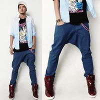 New Korean Design Spring Denim Jeans Hot Sales Clothing Men's Slim Straight Water Wash Harem Pants Male Casual Long Trousers