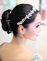 Luxury Crystal Headband Rhinestone Wedding Head Jewelry Vintage Bridal Hair Jewelry Pageant Crowns Headwear Headpieces WIGO0309